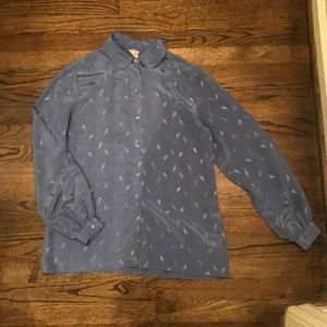 Vintage Silky Button-up Shirt